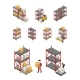Storage Racks Set