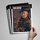 Black White Magazine Template