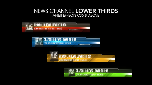 News Channel Lower Thirds (Corporate) After Effects Templates | F5 ...