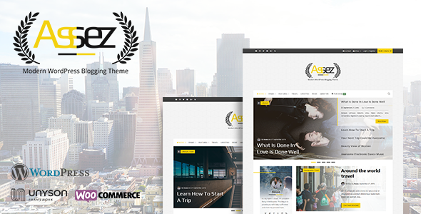 Download Assez | Modern WordPress Blogging Theme nulled download