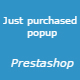 Just purchased popup Prestashop Module