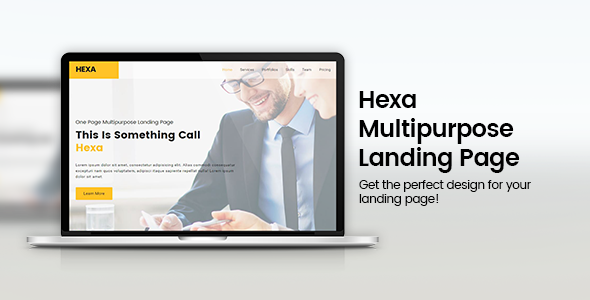 Download Hexa - HTML5 Responsive Multipurpose Landing nulled download