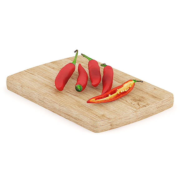 Chilli Pepper on Wooden Board - 3DOcean Item for Sale