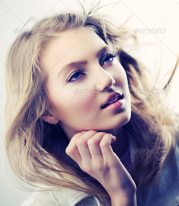 Beautiful Fashion Girl Portrait - Stock Photo - Images