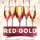 Red Gold Flyer Template