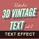 Retro Text Effect vol 2