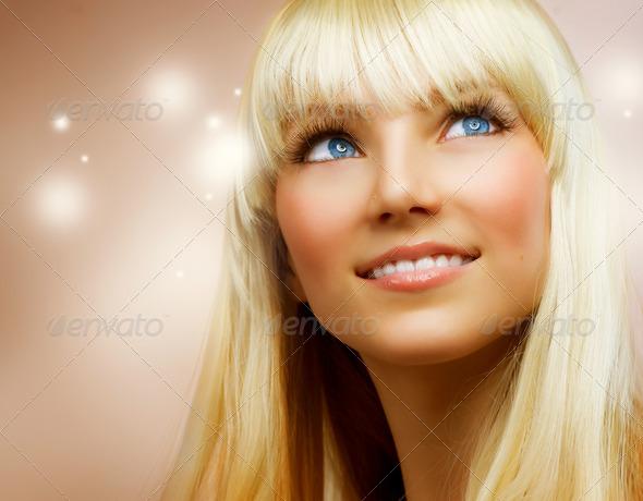 PhotoDune Teenage Girl with Healthy Blond Hair 1898686