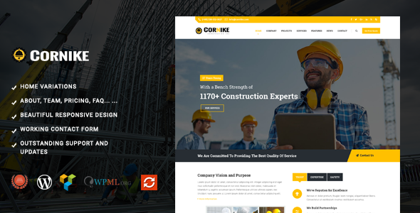 Cornike - Multi-Concept Business WordPress Theme