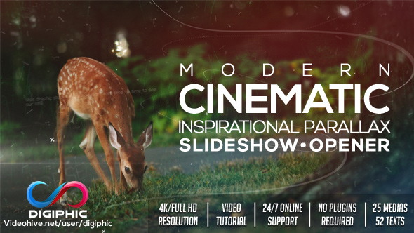 VideoHive Modern Cinematic Inspirational Parallax Slideshow-Opener 19316873