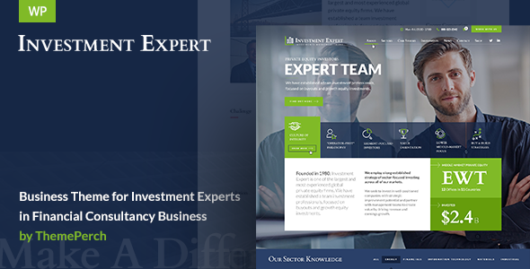 Download Investment Expert - Business Theme for Investment Experts in Financial Consultancy nulled download