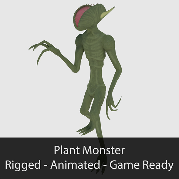 3DOcean Plant Monster Game Ready 19316964