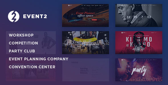 Event2: Workshop / Expo / Agency WordPress Theme
