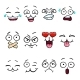 Download Vector Set with Cartoon Smiley Face