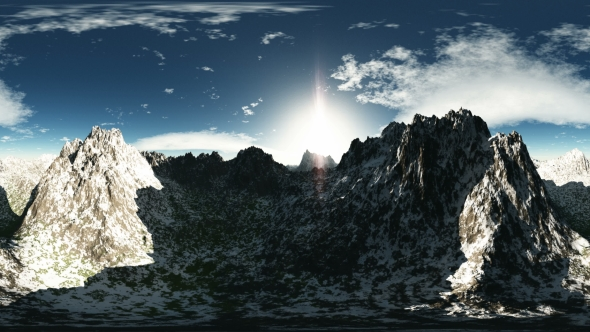 VideoHive Aerial VR 360 Panorama of Mountains 19317307