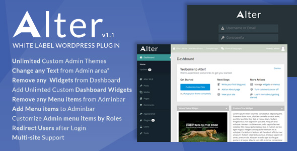 White Label Wordpress Plugin - Alter - CodeCanyon Item for Sale