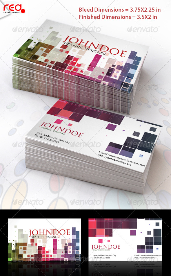 Mosaic Stylish Business Card Set - Creative Business Cards