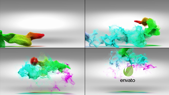 VideoHive Colorful Particles Logo Reveal 19306744