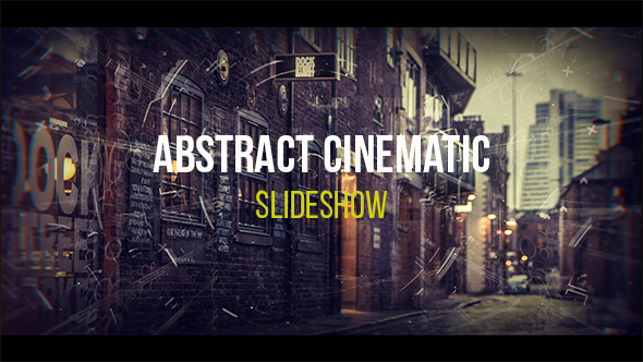 VideoHive Abstract Cinematic Parallax Opener Slideshow 19318190