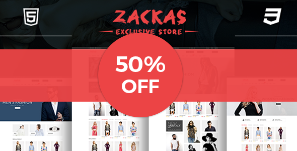 Zackas – WooCommerce WordPress Theme