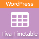 Tiva Timetable For Wordpress