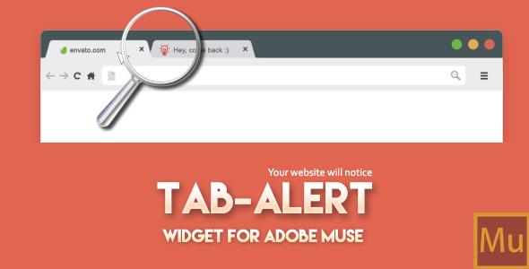 Download Tab Alert: Widget for Adobe Muse