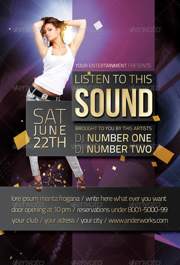 Music & Event Flyer - Listen to this Sound