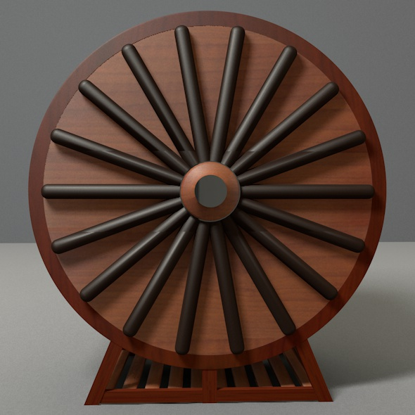 Round Wooden Wardrobe - 3DOcean Item for Sale