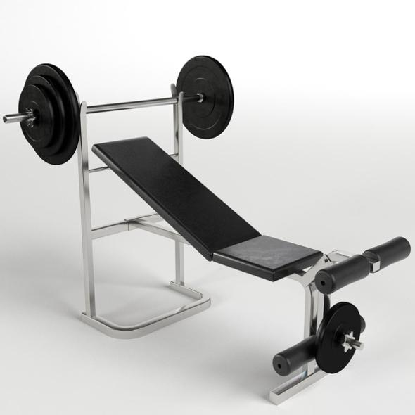 Gym Equipment - Bench Weight - 3DOcean Item for Sale