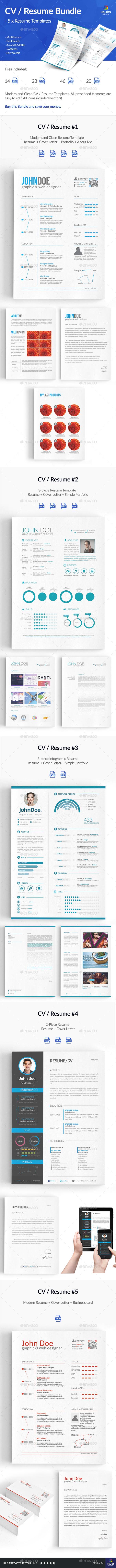5 x Resume / CV