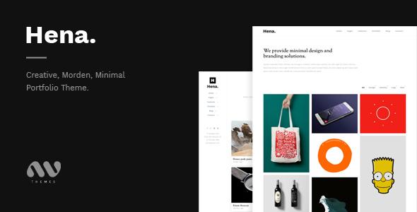Hena – Minimal Portfolio Template (Portfolio) images