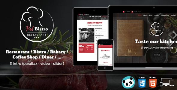Themeforest Red Bistro - Restaurant Responsive HTML5 Template 19279338