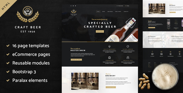 Craft Beer Nation HTML Template (Inventive)