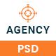 Agency - Creative & Minimal PSD Template For Agency
