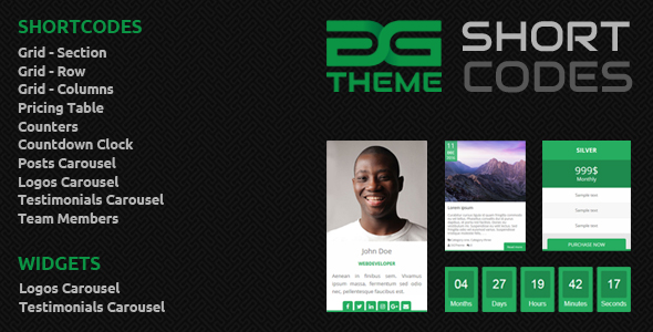 Download DGTheme ShortCodes - WordPress Plugin nulled download