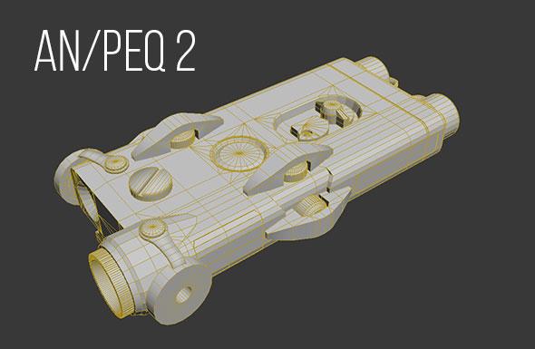 AN/PEQ-2 - 3DOcean Item for Sale