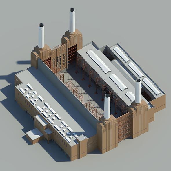 Battersea Power Station - London - 3DOcean Item for Sale