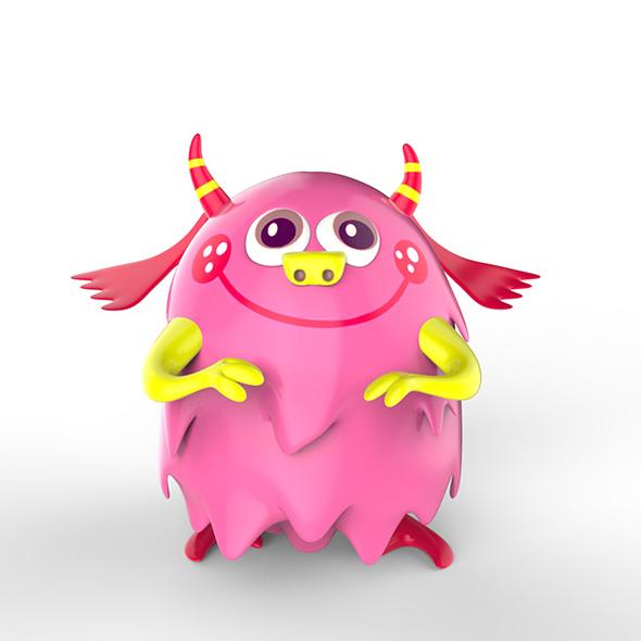 Momo cartoon monster - 3DOcean Item for Sale