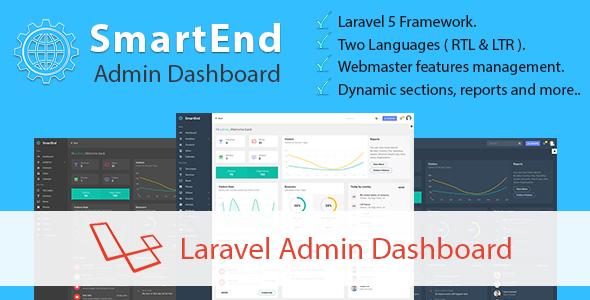 SmartEnd - Laravel Admin Dashboard