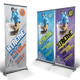 Snowboarding Roll-up Banner
