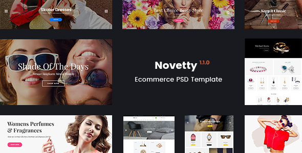 Novetty - Multi-purpose Ecommerce PSD Template
