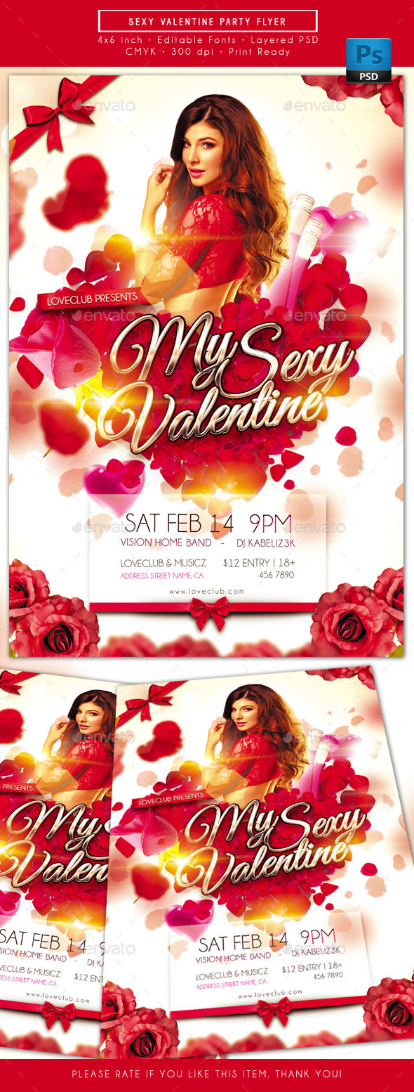 Sexy Valentine Party Flyer