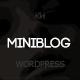 Miniblog - Multipurpose, Minimal WordPress Blog Theme