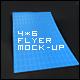 6 4x6 Flyer mock-ups