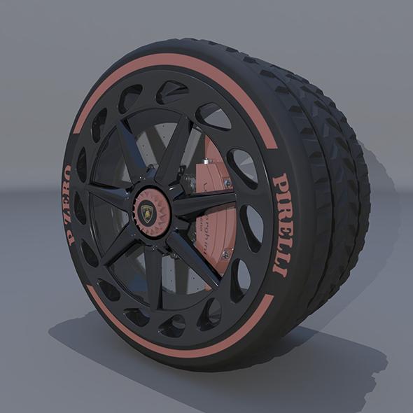 Wheel lamborghini veneno - 3DOcean Item for Sale
