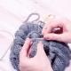 The Lesson of Knitting Wool Knitting Headdress Hat.