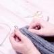 The Lesson of Knitting Wool Knitting Headdress Hat