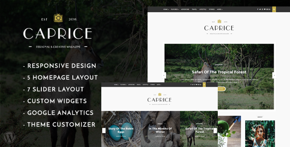 Caprice - A Creative Blog Theme
