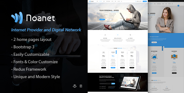 Noanet | Internet Provider And Digital Network WordPress Theme