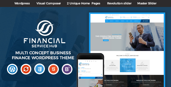 Download Financial Business Hub Corporate WordPress Theme nulled download