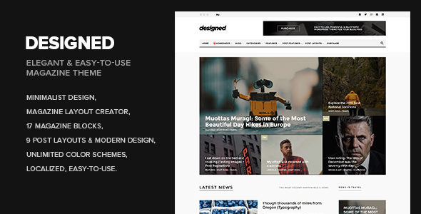 Download Designed - Magazine / Newspaper / Blog WordPress Theme